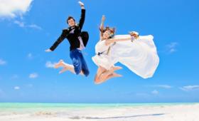Весёлая игра для молодожёнов на свадьбе «Мой девиз в семейной жизни»
