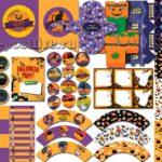 Супер-набор шаблонов для печати на вечеринку Хэллоуин